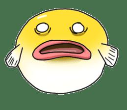 Yellow boxfish sticker #7100623