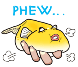 Yellow boxfish sticker #7100624