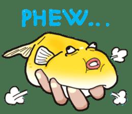 Yellow boxfish sticker #7100624