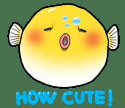 Yellow boxfish sticker #7100628