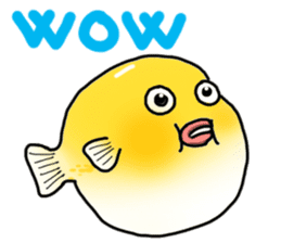 Yellow boxfish sticker #7100630