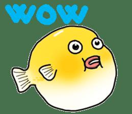 Yellow boxfish sticker #7100630