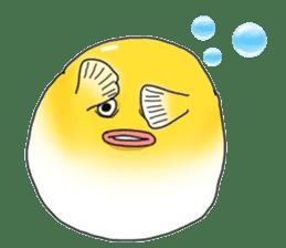 Yellow boxfish sticker #7100633