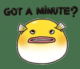 Yellow boxfish sticker #7100634