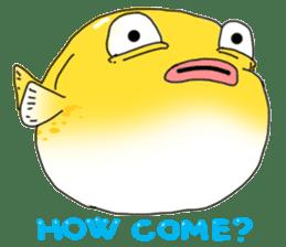 Yellow boxfish sticker #7100635