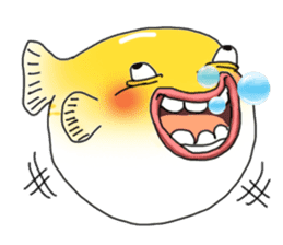 Yellow boxfish sticker #7100637