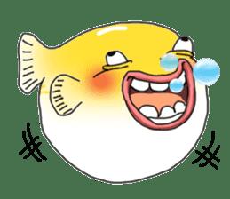 Yellow boxfish sticker #7100637