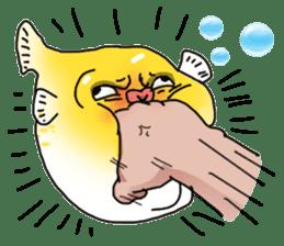 Yellow boxfish sticker #7100638