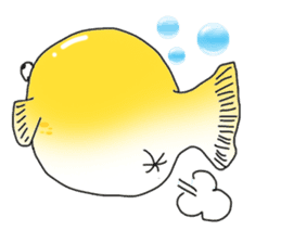 Yellow boxfish sticker #7100639