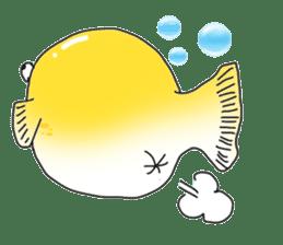 Yellow boxfish sticker #7100639