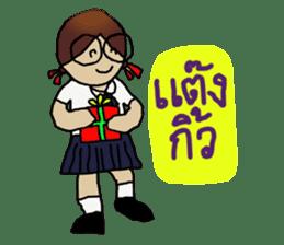 Angie , a little school girl. sticker #7108886