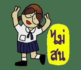 Angie , a little school girl. sticker #7108888