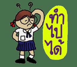 Angie , a little school girl. sticker #7108889