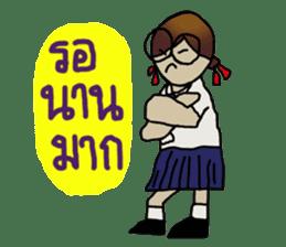 Angie , a little school girl. sticker #7108891