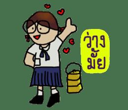 Angie , a little school girl. sticker #7108892