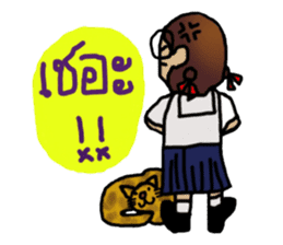 Angie , a little school girl. sticker #7108900