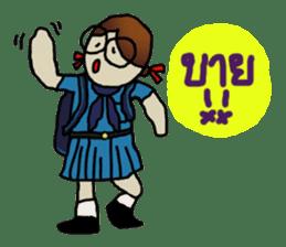 Angie , a little school girl. sticker #7108901