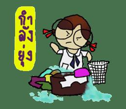 Angie , a little school girl. sticker #7108910