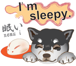 Japanese confectionery and Shiba Inu. sticker #7114150