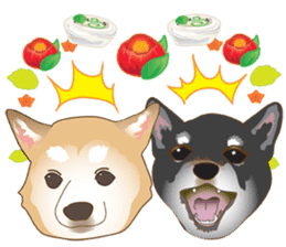 Japanese confectionery and Shiba Inu. sticker #7114161