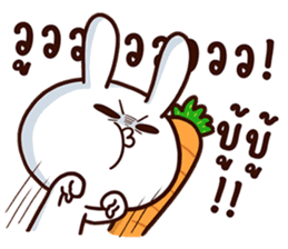 Moose the rabbit & Babe Carrot 2 sticker #7117760