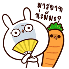 Moose the rabbit & Babe Carrot 2 sticker #7117763