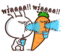 Moose the rabbit & Babe Carrot 2 sticker #7117767