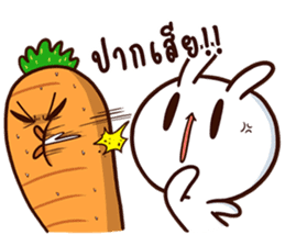 Moose the rabbit & Babe Carrot 2 sticker #7117777