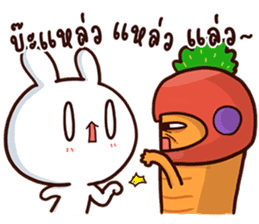 Moose the rabbit & Babe Carrot 2 sticker #7117788
