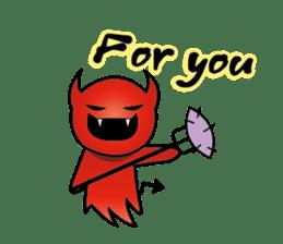 Angel VS Devil(English version) sticker #7121039