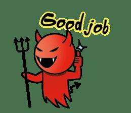 Angel VS Devil(English version) sticker #7121066