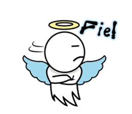 Angel VS Devil(English version) sticker #7121068