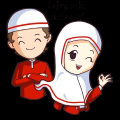 Jamil & Jamilah (The Cute Moslem Couple)