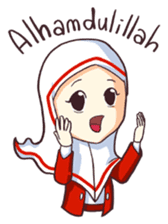 Jamil & Jamilah (The Cute Moslem Couple) sticker #7123125