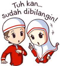 Jamil & Jamilah (The Cute Moslem Couple) sticker #7123144