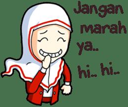 Jamil & Jamilah (The Cute Moslem Couple) sticker #7123148
