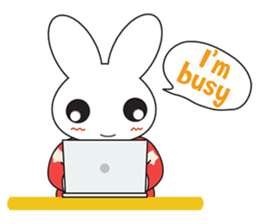 Sleepy Bunny (EN) sticker #7130902