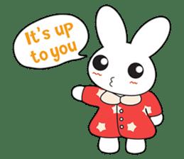 Sleepy Bunny (EN) sticker #7130911