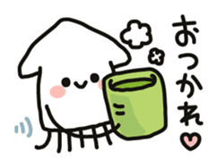Cute squid's sticker #7131600