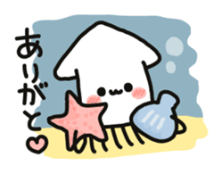 Cute squid's sticker #7131602