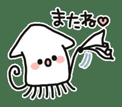 Cute squid's sticker #7131603