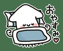 Cute squid's sticker #7131606