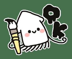 Cute squid's sticker #7131608
