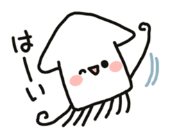 Cute squid's sticker #7131609
