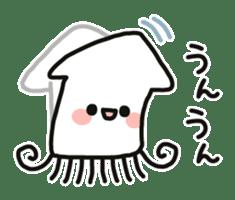 Cute squid's sticker #7131610