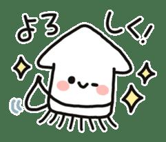 Cute squid's sticker #7131611