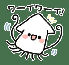 Cute squid's sticker #7131612