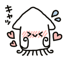 Cute squid's sticker #7131614