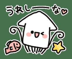 Cute squid's sticker #7131615