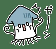 Cute squid's sticker #7131617